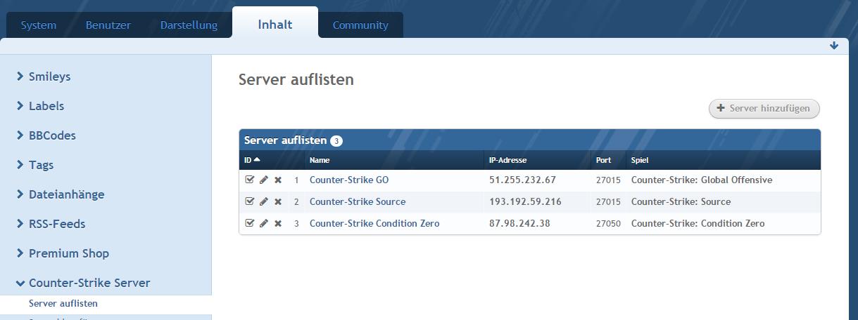 Counter-Strike Server Integration - WoltLab®