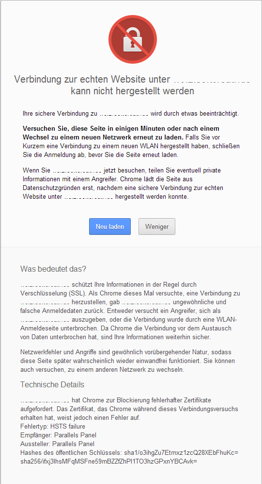 Chrome HSTS Fehler - Off-Topic - WoltLab®