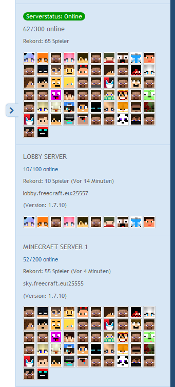 Minecraft Plugin Package Server Viewer Avatars User Profile Field - Minecraft server jetzt spielen