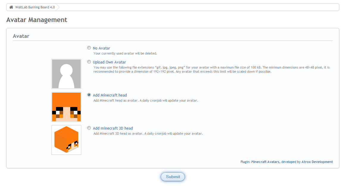 Minecraft Plugin Package: Server Viewer, Avatars, User Profile Field