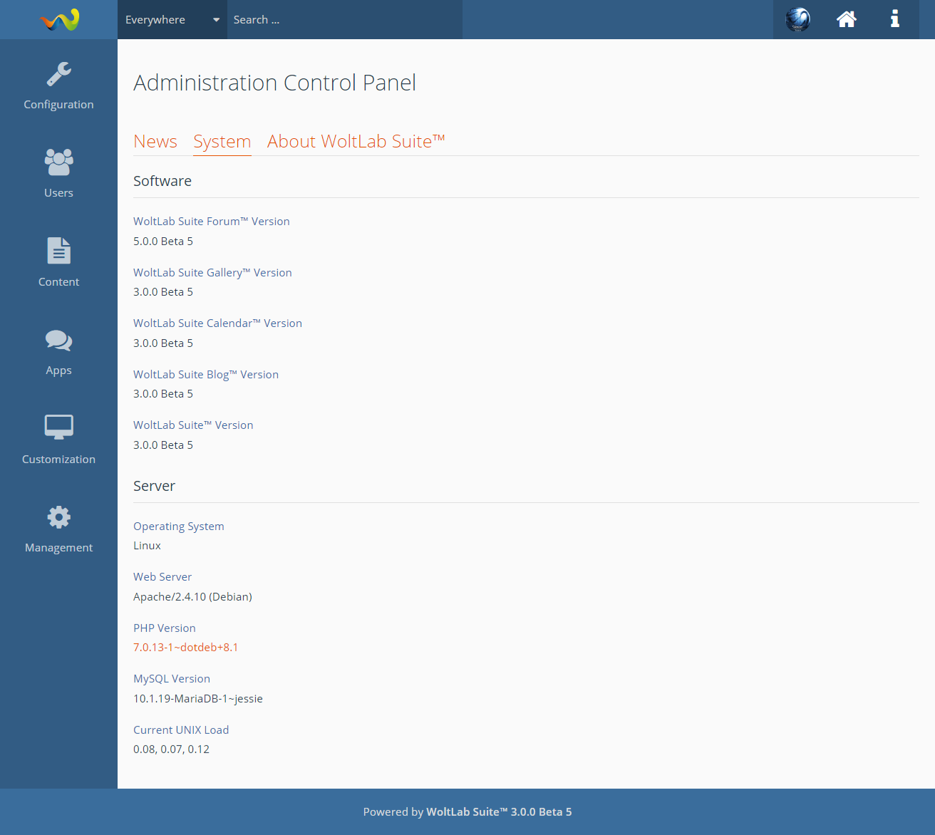Admin Control Panel - WoltLab®