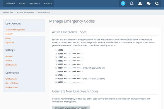 List of emergency codes